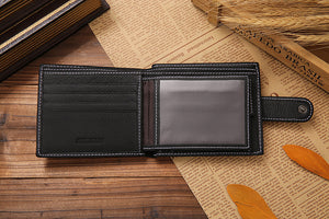 Fashion Genuine Leather Short Men Wallets-Felligo