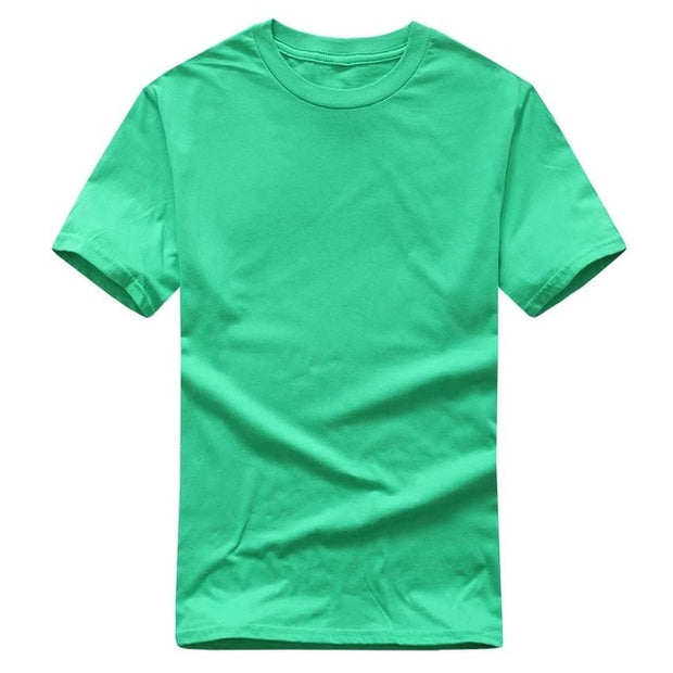 Solid Color T Shirt Wholesale Black White Men Women Cotton T-shirts Skate Brand T-shirt Running Plain Fashion Tops Tees-Felligo
