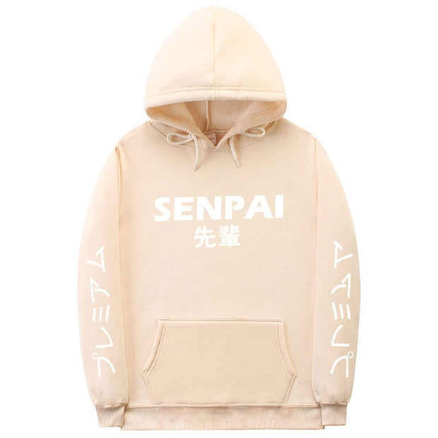 Fashion japanese streetwear SENPAI Hoodie Sweatshirt Multiple Colour Men Women Hoodies Pullover sudadera hombre-Felligo