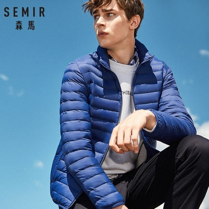 SEMIR 2019 Down Jacket Men Winter Portability Warm 90% White Duck Down Hooded Man Coat jaqueta masculino chaqueta hombre-Felligo