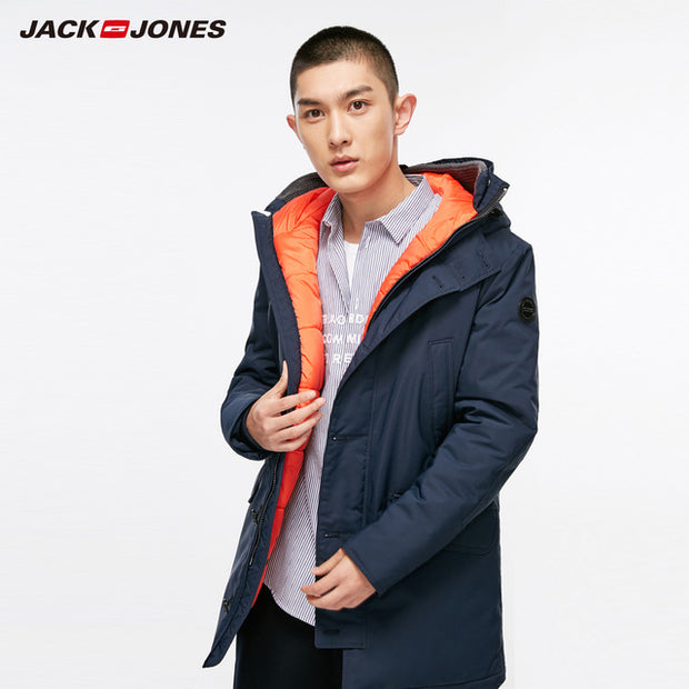 JackJones Men's Winter Hooded Parka Coat Long Jacket Luxury Overcoat 2019 New Menswear 218309511-Felligo