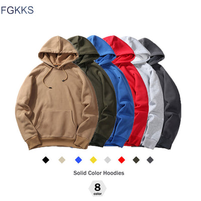 FGKKS New Autumn Fashion Hoodies Male Warm Fleece Coat Hooded Men Brand Hoodies Sweatshirts EU Size-Felligo