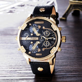 Top Brand Luxury Big Dial Men Watch Military Quartz Watch Casual Sports Business Metal Wristwatch Male Clock Relogio Masculino-Felligo