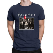 Horror Friends Pennywise Michael Myers Jason Voorhees Halloween Men T-Shirt Cotton matching T-shirt-Felligo