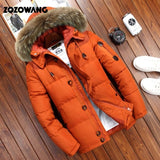 90% Down Jackets Men Winter Jacket Men Fashion Thick Warm Parkas Fur White Duck Down Coats Casual Man Waterproof Down Jackets-Felligo
