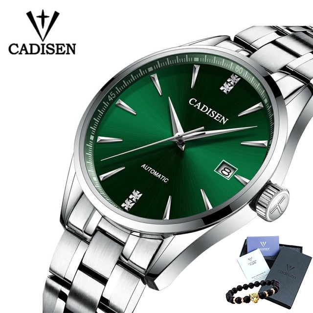 CADISEN Luxury Brand Full Steel Automatic 50M Waterproof With Curved Surface-Ultrathin-Felligo