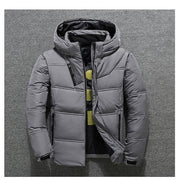 2019 Winter Jacket Mens Quality Thermal Thick Coat Snow Red Black Parka Male Warm Outwear Fashion - White Duck Down Jacket Men-Felligo