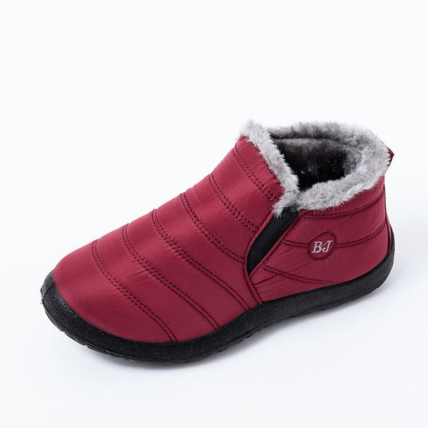 MCCKLE Snow Boots Shoes Warm Plush Fur Ankle Boots Winter-Felligo