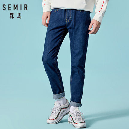 SEMIR jeans for men slim fit pants classic 2019 jeans male denim jeans Designer Trousers Casual skinny Straight Elasticity pants-Felligo