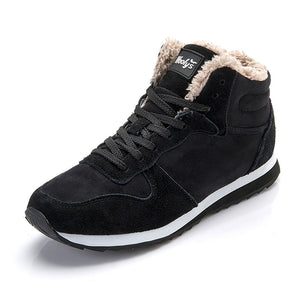 Mens Shoes Casual Sneakers Men Thick Fur Winter Sneakers Male Shoes-Felligo