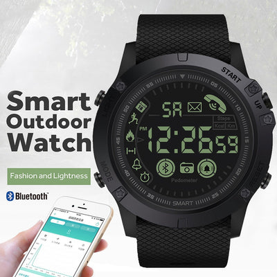 Men's watch outdoor intelligent Multifunction sports and leisure digital clock military silicone automatic clock waterproof H4-Felligo