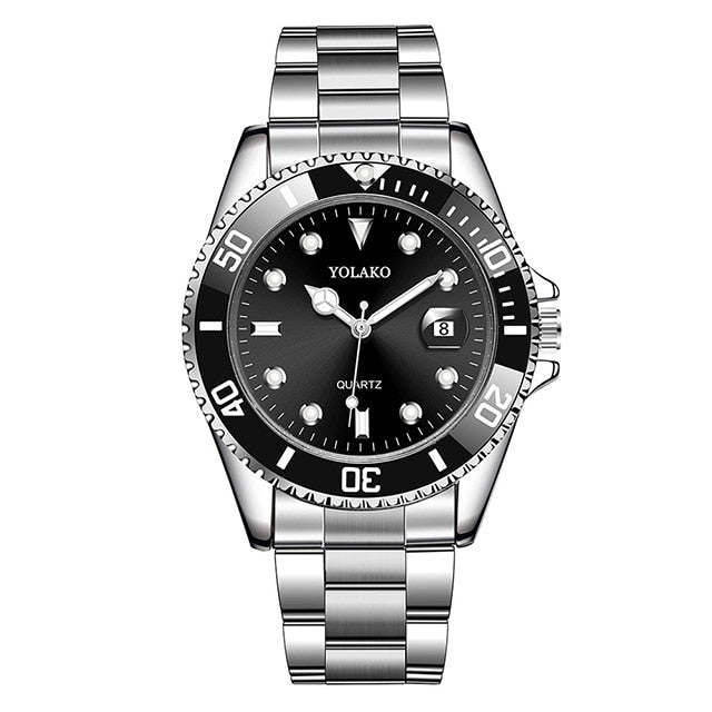 Luxury Rolexable Men Stainless Steel Waterproof Clock-Felligo