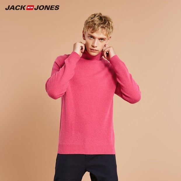 JackJones Men's Wool Turtle Neck Sweater Slim fit Pullover Top-Felligo