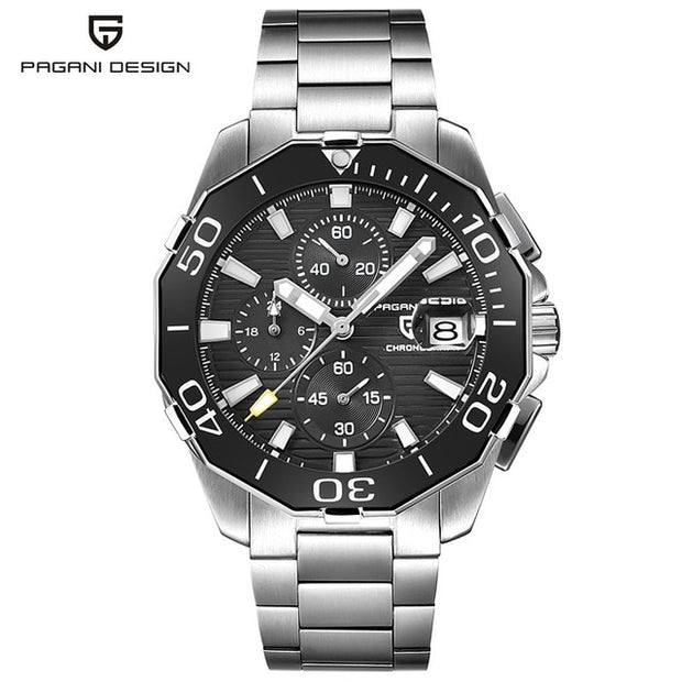 2019 PAGANI DESIGN 1617 Stainless Steel Men's Military Mechanical Watch-Felligo
