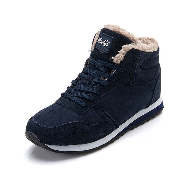 Men boots Men's Winter Shoes Fashion Snow Boots Shoes Plus Size Winter Sneakers Ankle Men Shoes Winter Boots Black Blue Footwear-Felligo