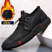 BIG SIZE 46 NEW Brand High quality all Black Men's leather casual shoes Fashion Sneakers flats Oxfords Shoes For Men LG-1111-Felligo