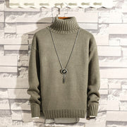 Turtleneck Men's Sweaters Slim Fit Pullover Men Classic-Felligo