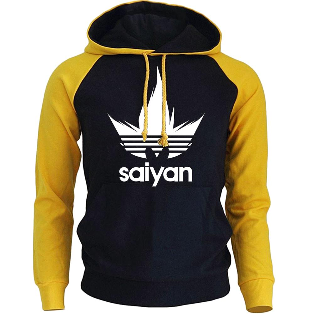 Men's Hoodies Anime Dragon Ball Z Super Saiyan Sweatshirt 2018 New Hot Sale Raglan Hoody Autumn Winter Men's Sportswear Hoodie-Felligo