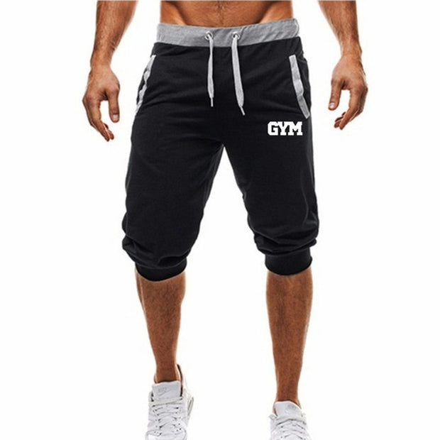 Jogging pants men Sport Pencil Pants Men Cotton Soft Bodybuilding Joggers Gym Trousers Running Pants Men running shorts men-Felligo
