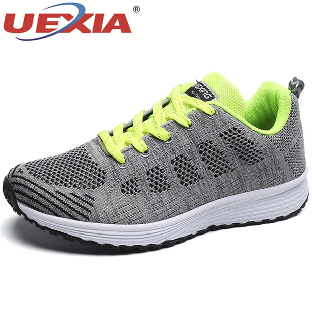 UEXIA Breathable Mesh Sneakers Men 2019 New Unisex Couple Summer Slip on Platform Knitting Flats Soft Walking Shoes Men Footwear-Felligo