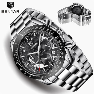 BENYAR Men's Watches Top Brand Luxury Watch Quartz Military Wristwatches-Felligo