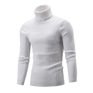 Winter Men Slim Warm Knit High Neck Pullover Jumper Sweater Turtleneck Top Plus Size M-5XL pull homme sueter hombre sweter 2019-Felligo