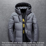 New Winter Jacket Men High Quality Fashion Casual Coat Hood Thick Warm Waterproof Down Jacket Male Winter Parkas Outerwear-Felligo