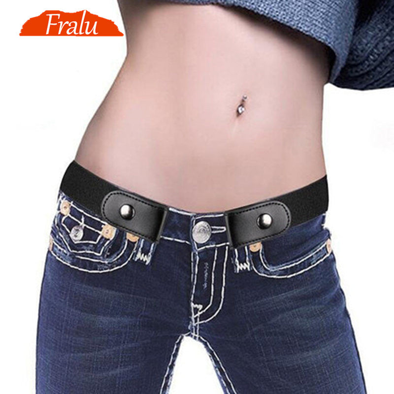 2019 Buckle-Free Belt For Jean Pants Dresses No Buckle Stretch Elastic Waist Belt For Women/Men No Bulge No Hassle Waist Belt-Felligo