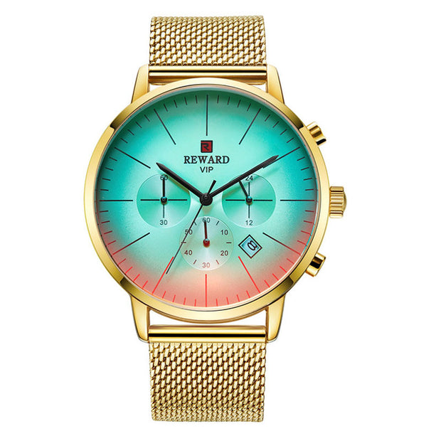 Colorful Luster Wrist Watch Men Watches Top Brand Luxury Chronograph-Felligo