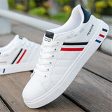 Mikarause White Casual Shoes Men Leather Sneakers Male Comfort Sport Running Sneaker Man Tenis mocassin Fashion Breathable Shoes-Felligo