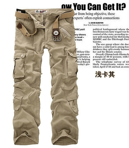 Hot sale free shipping men cargo pants camouflage trousers military pants for man 7 colors-Felligo