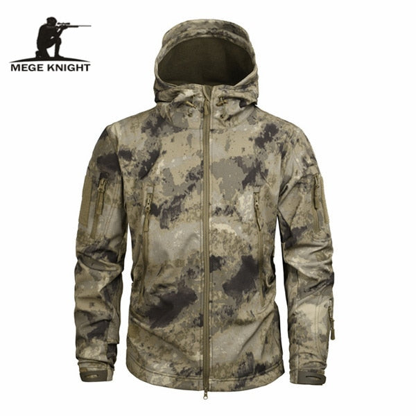 Mege Brand Clothing Autumn Men's Military Camouflage Fleece Jacket Army Tactical Clothing Multicam Male Camouflage Windbreakers-Felligo