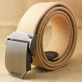 Best YBT Unisex tactical belt Top quality 4 mm thick 3.8 cm wide casual canvas belt Outdoor Alloy Automatic buckle men Belt-Felligo