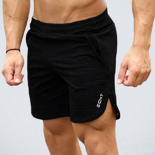 Summer Mens Slim Brand Shorts Calf-Length Fitness Bodybuilding Fashion Casual Gyms Jogger Workout Beach Short pants Sportswear-Felligo