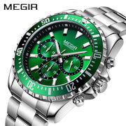 MEGIR Men Watch Top Brand Luxury Chronograph Quartz Watches-Felligo