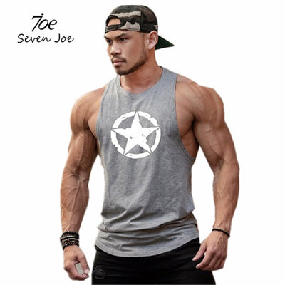Seven Joe New fashion cotton sleeveless shirts tank top, men Fitness shirt-Felligo