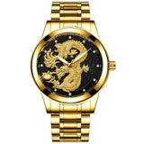 Fashion Steel Strap Luxury Watch Men Creative Dragon Quartz-watch-Felligo