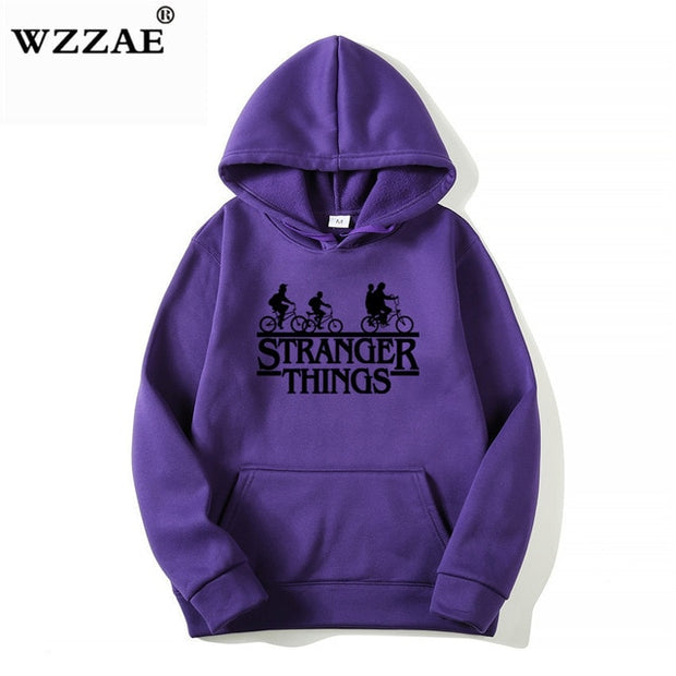 2019 Trendy Faces Stranger Things Hooded Mens Hoodies and Sweatshirts Oversized for Autumn with Hip Hop Winter Hoodies Men Brand-Felligo