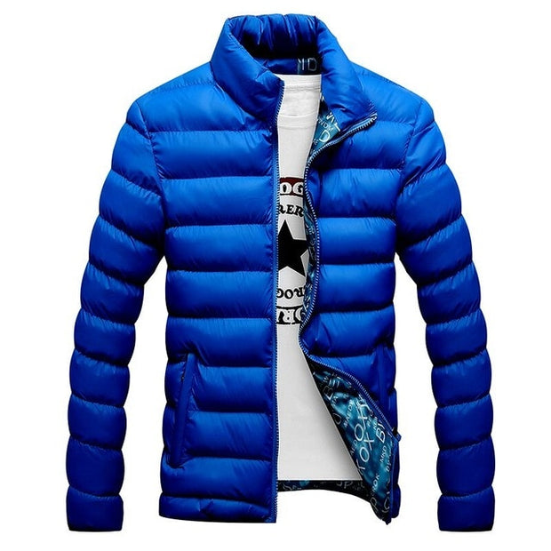 Winter Jacket Men 2019 Fashion Stand Collar Male Parka Jacket Mens Solid Thick Jackets and Coats Man Winter Parkas M-6XL-Felligo