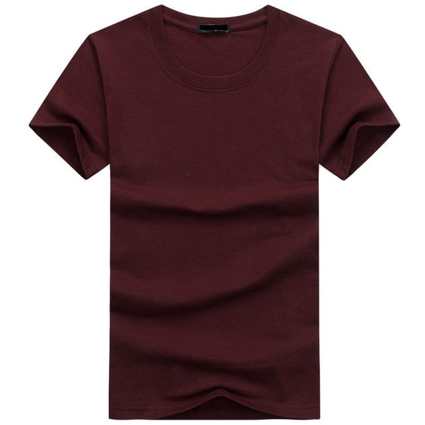 2019 High Quality Fashion Mens T Shirts Casual Short Sleeve T-shirt Mens Solid Casual Cotton Tee Shirt Summer Clothing 5XL TX112-Felligo