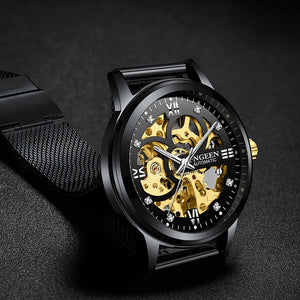 FNGEEN 2019 Sport, Skeleton Mechanical Watch-Felligo