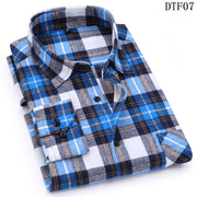 Men Flannel Plaid Shirt 100% Cotton 2019 Spring Autumn Casual Long Sleeve Shirt Soft Comfort Slim Fit Styles Brand Man Plus Size-Felligo