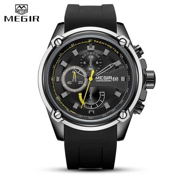 MEGIR Fashion Men Watch Top Brand Luxury Chronograph Waterproof Sport Mens Watches-Felligo