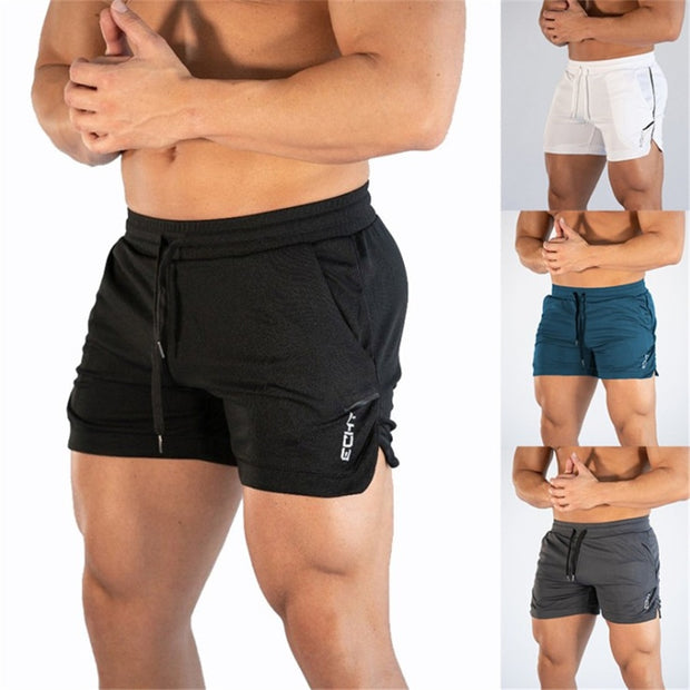 2019 Men Fitness Bodybuilding Shorts Man Summer Gyms Workout Male Breathable Mesh Quick Dry Sportswear Jogger Beach Short Pants-Felligo