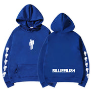 Billie Eilish Fashion Printed Hoodies Women/Men Long Sleeve Hooded Sweatshirts-Felligo