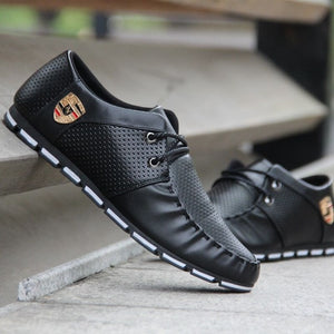 Sports driving shoes men's flat non-slip casual shoes Italian flat shoes 2019 Korean version of men's pea soft shoes-Felligo