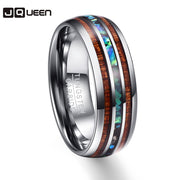 Wood Grain Polishing Men Rings Middle 100% Tungsten Carbide Wedding Bands Multi-size-Felligo