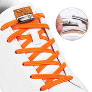 Magnetic Shoelaces Elastic No Tie Shoe Laces Kids Adult Unisex Flat Sneakers Shoelace-Felligo