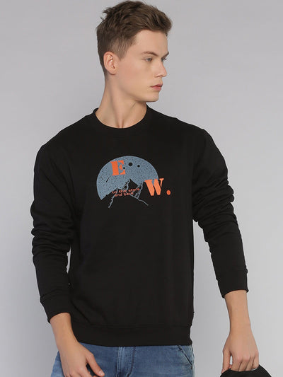 Travel Mountains Sweatshirt Black/Grey - EURUS WEAR CLOTHING