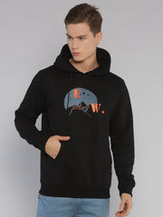 Travel Mountains Hoodie Black/Grey